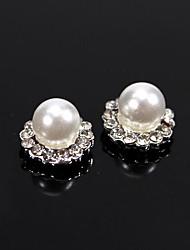 10pcs sfera disegno perline d'epoca perla con strass di cristallo 3d lega chiodo decorazione di arte