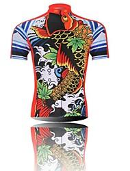 XINTOWN Muškarci Kratkih rukava Biciklistička majica Crtani film Bicikl Quick dry, Ultraviolet Resistant