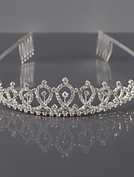 cheap -Alloy Tiaras / Headwear with Floral 1pc Wedding / Special Occasion Headpiece