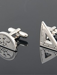 cheap -Groom/Groomsman Protractor And Triangular Rule Brass Cufflinks