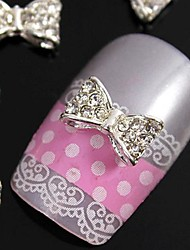 10pcs 3D glitting strass papillon accessori in lega fai da te per le punte delle dita nail art decorazione