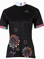 ILPALADINO Cycling Jersey Women's Short Sleeves Bike Jersey Top Quick Dry Ultraviolet Resistant Breathable 100% Polyester Spring Summer