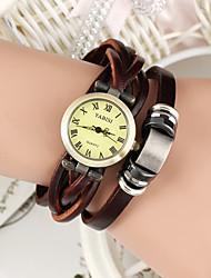 cheap -Women's Bracelet Watch Casual Watch Leather Band Vintage / Bohemian / Fashion Brown