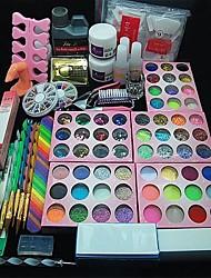 cheap -108PCS Acrylic UV Powder Glitter Glue Nail Art Tool Kit Set 12 Varied Colors of Pearl 1 Nail Clipper 1 Buffer Block 3D Acrylic Mold 1 Tweezer