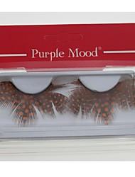 Недорогие -1 пара про высокое качество ручной работы оранжевая точка черного цвета пера накладные ресницы