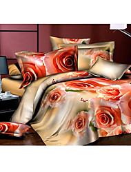 baratos -Flor do amor 3d conjunto de impressão edredon