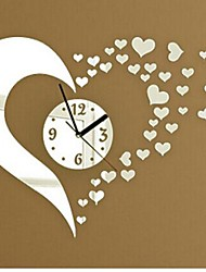 cheap -Wall Clock Stickers Wall Decals, Fashion 3D Heart Mirror Acrylic Wall Stickers
