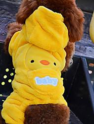 Hunde Kostüme / Kapuzenshirts / Austattungen Gelb Hundekleidung Winter Karton Cosplay / Halloween