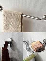 nehrđajućeg čelika 3 komada kupaonski pribor postavljen za ručnike i sapun jela i ogrtač kuka
