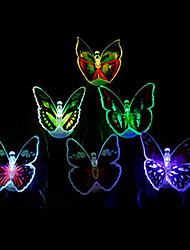 éjszakai fény dekoráció fény 12pcs világító színes led pillangó fény (véletlenszerű szín)