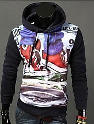 billige -Herre Hattetrøje Hættetrøjer og trøjer - Trykt mønster Multi Farve, Formel Stil