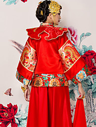 Gaine / colonne robe de mariée en coton