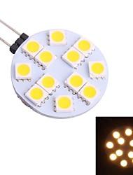 cheap -G4 2W 80LM 3500K 12x5050 Warm White LED Light Bulb(DC 12V)
