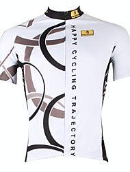 cheap -ILPALADINO Men's Short Sleeve Cycling Jersey - White Bike Jersey, Quick Dry, Ultraviolet Resistant, Breathable