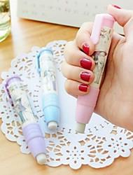 Extension Type Cute  Design Plastic Eraser (Random Color x1pcs)