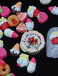 economico -100pcs 3d resina pittura decorazione di arte del chiodo della torta