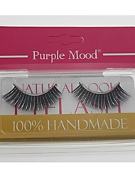 1 Pair High Quality Hand Made Synthetic Fiber Hair Thick Long Shimmer Cannetille Style False Eyelashes CFE462#