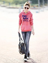economico -Women's V Neck Cute Letter Print Sport Casual Hoodies Sweatshirt