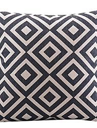 cheap -1 pcs Cotton/Linen Pillow Cover, Plaid Modern/Contemporary