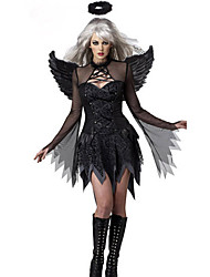 cheap -Cosplay Costumes / Party Costume Halloween Fallen Angel Black Terylene Women's Halloween Costume