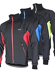 Arsuxeo Cycling Jacket Men's Bike Jacket Fleece Jacket Top Thermal / Warm Windproof Anatomic Design Fleece Lining Breathable Reflective