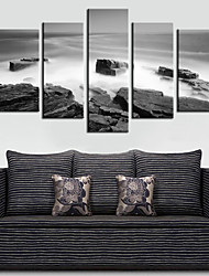 cheap -Stretched Canvas Art Landscape Sea Set of 5