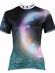 ILPALADINO Cycling Jersey Women's Short Sleeves Bike Jersey Tops Quick Dry Ultraviolet Resistant Breathable 100% Polyester Spring Summer