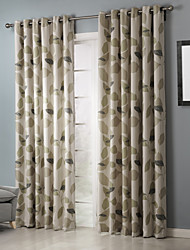 Room Darkening Country Elegant Artistic Leaves Curtain Two Panels