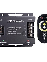cheap -6A 2-Channel Wireless RGB LED Controller with Touch Remote Controller for RGB LED Strip Lamp (12~24V)