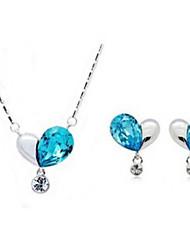 CS хрустальные корейский стиль Элегантные серьги моды ожерелье Две пьесы наборы