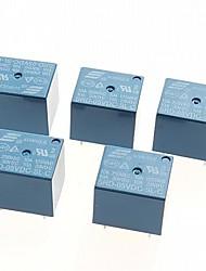 5V DC Power Relay SRD-05VDC-SL-C  PCB Type (5pcs)