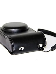 cheap -Pajiatu PU Leather Camera Case Bag Cover with Hand Strap for Samsung Galaxy Camera 2 EK-GC200 GC120 GC110 GC100