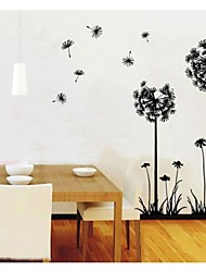 cheap -ZOOYOO®  hot sale DIY Dandelions Flowers Lemon Removable Wall Decor Wall Stickers Vinyl Stickers wall sticker