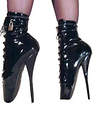 Women's Spring Fall Winter Fashion Boots Leatherette Party & Evening Stiletto Heel Black White