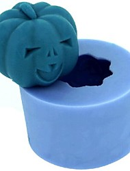 cheap -Halloween Pumpkin Fondant Cake Chocolate Candle Silicone Mold,L4.2cm*W4.2cm*H3.4cm
