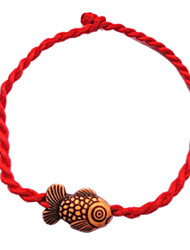 cheap -Chinese Red Classic Red String Bracelet with Cute Little Goldfish Jewelry Christmas Gifts