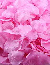 100pcs pétales rose foncé pétales de rose pour les vacances, mariage, décorations de fête