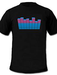 preiswerte -LED-T-Shirts Musik aktivierte LED Lampen Textil Stilvoll 2 AAA Batterien