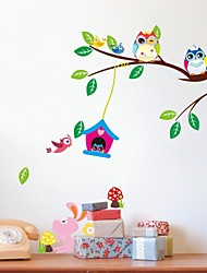 cheap -ZOOYOO® Removable bird play on the tree of  Wall Stickers Hot Selling Wall Decals For Home Decor
