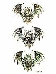 billige -Waterproof Bat Temporary Tattoo Sticker Tattoos Sample Mold for Body Art(18.5cm*8.5cm)