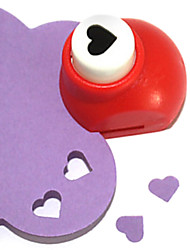 DIY Cutting Tool Mini Metal Heart Pattern Punch(Random Color)