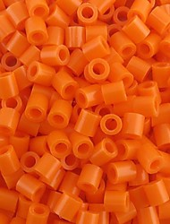 Approx 500PCS/Bag 5MM Orange Perler Beads Fuse Beads Hama Beads DIY Jigsaw EVA Material Safty for Kids