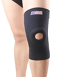 cheap -Knee Brace Sports Support Protective Breathable Eases pain Fitness Running Black