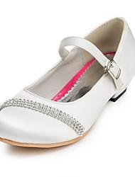 povoljno -Djevojčice Cipele Saten Proljeće Jesen Udobne cipele Cipele na petu Štras za Vjenčanje Slonovača Bijela Crvena Roza