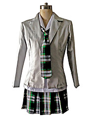 cheap -Cosplay Costumes / Party Costume Cosplay Festival/Holiday Halloween Costumes Black / Beige Plaid Coat / Shirt / Skirt / CravatHalloween /