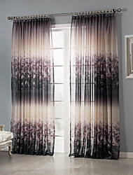 cheap -Rod Pocket Grommet Top Tab Top Double Pleat Two Panels Curtain Country, Print Bedroom Polyester Material Sheer Curtains Shades Home