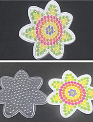 cheap -1PCS Template Clear Pegboard Flower for 5mm Hama Beads Fuse Beads