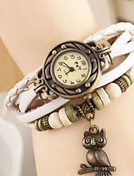 cheap -Women's Quartz Wrist Watch Leather Band Vintage Bohemian Owl Fashion Multi-Colored