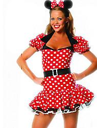 Cosplay Costumes de Cosplay Costume de Soirée Féminin Halloween Fête / Célébration Déguisement d'Halloween Points Polka
