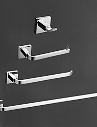 cheap -Bathroom Accessory Set High Quality Contemporary Brass 4pcs - Hotel bath tower bar Robe Hook Toilet Paper Holders